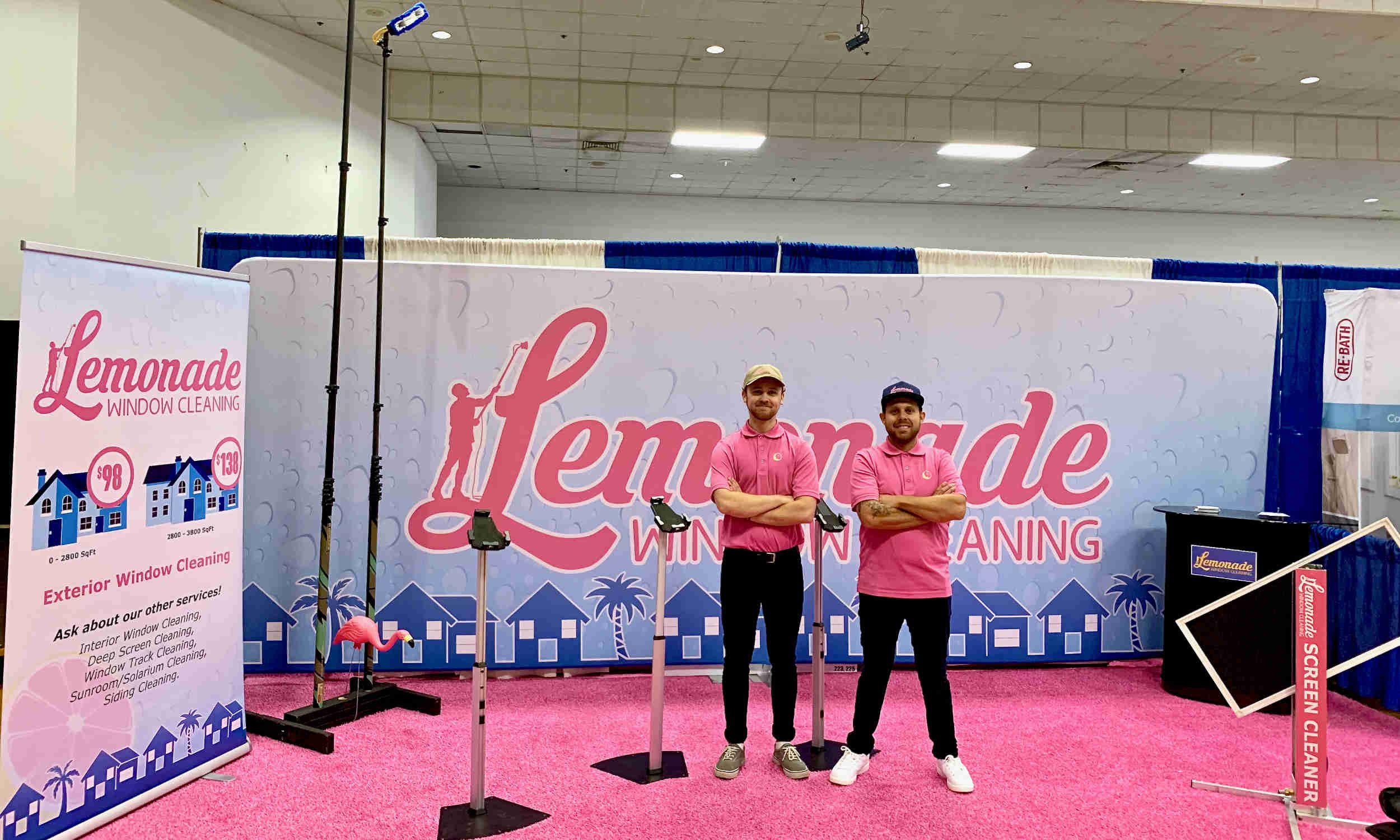 Lemonade Window Cleaning Home Show Booth